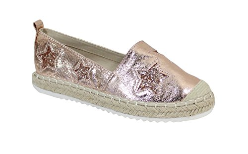 By Shoes - Espadrille Plate Style Brillant - Femme Champagne