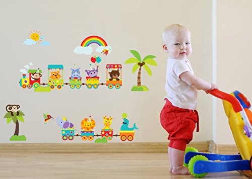 foret-mignon-animal-train-avec-soleil-et-arc-en-ciel-decoration-murale-pour-enfant-jeux-baby-circus-