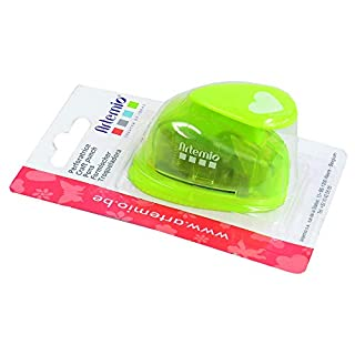 Artemio 1.6 cm Small Heart Number 1 Lever Punch, Green