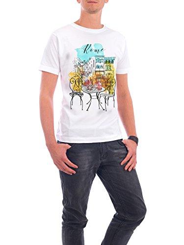 """Design T-Shirt Männer Continental Cotton """"Rom Illustration"""" - stylisches Shirt Städte Städte / Rom Reise Architektur von Tatiana Davidova Weiß"""