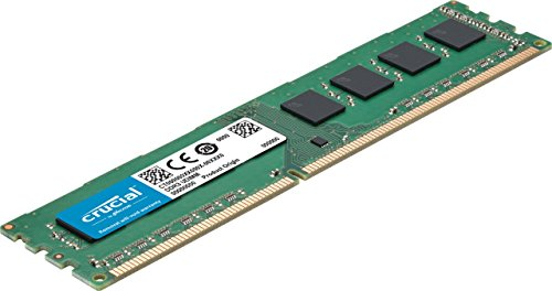 Crucial CT51264BD160B 4Go (DDR3L, 1600 MT/s, PC3L-12800, DIMM, 240-Pin) Mémoire