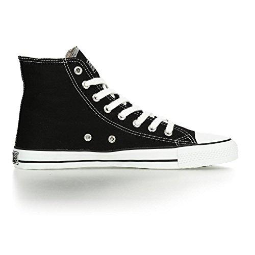 Ethletic Sneaker vegan HiCut – Farbe jet black / white aus Bio-Baumwolle – high Sneaker - 5