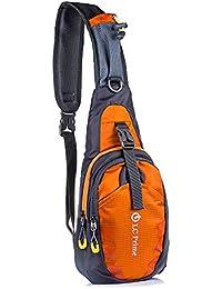 23a9fc6716 Sling Bag Chest Shoulder Unbalance Gym Backpack Sack Satchel Outdoor Bike