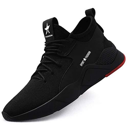 SUADEEX Sicherheitsschuhe Herren Damen Arbeitsschuhe S3 Leicht Sportlich Atmungsaktiv Schutzschuhe Stahlkappe Sneaker Outdoor Schuhe Unisex