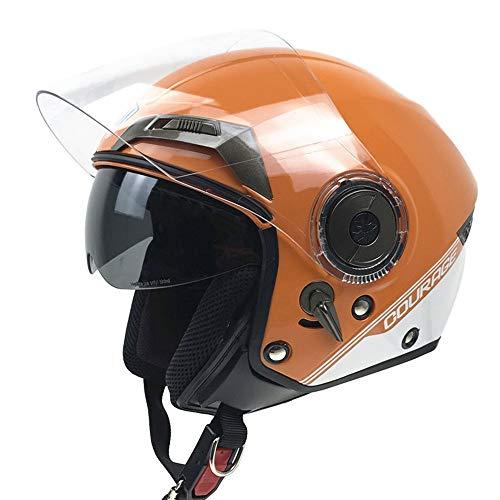 ERQINGTK Helm/Anti-Diebstahl- / Dual-Objektive/Motorräder / Sonnenbrillen/Jahreszeiten / Allgemein, Orange M