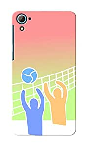 KnapCase Volley Ball Designer 3D Printed Case Cover For HTC Desire 826