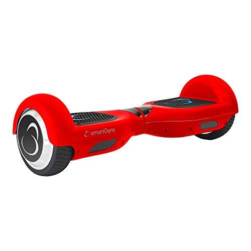 smartgyro x2 ul v.3.0 red - potente patinete eléctrico, ruedas de 6.5 antipinchazos, batería de litio 4400 mah, vel. máxima 12 km/h, autonomía de 20 km, certificado ul,  color rojo
