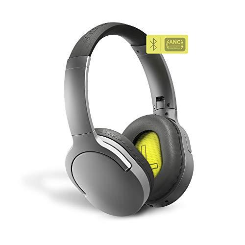 Energy Sistem Headphones BT Travel 5 ANC (Active Noise Cancelling, Bluetooth, Voice Assistant, Control Talk, Foldable, Extended Battery) - Gris
