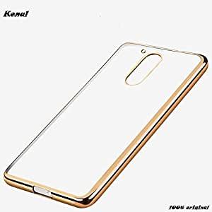For Motorola Moto G 4th Gen - Kenal Ultra Premium Luxurious Golden Border Electroplated Soft Clear TPU Back Cover