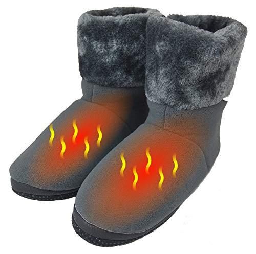 ObboMed MF-2305M USB 5V 10W wärmende Heizschuhe mt Karbon Heizelementen, mit weicher Sohle, M: bis Schuhgröße 40, wärmende Hausschuhe, Wärmepolster, Fußwärmer, Aufwärmung Kalter Füße -