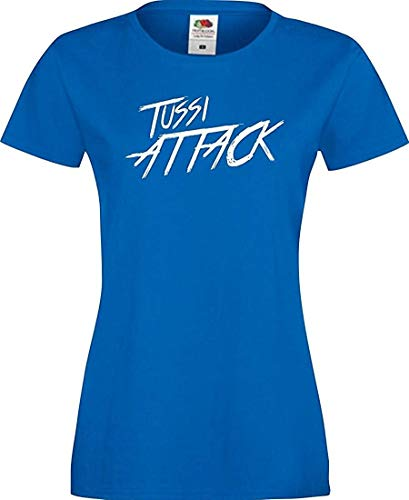 Shirtinstyle Lady T-Shirt Tussi Attack,royal, XL