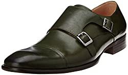 Kenneth Cole Mens Dining Room Olive Leather Formal Shoes - 10.5 UK/India (44.5 EU)