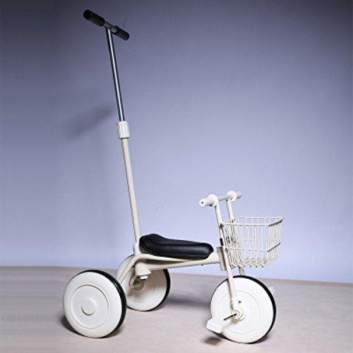 QXMEI Triciclo Per Bambini Bambini Bicicletta Bambino Putter Push Passeggino 1-3 Anni Vecchia Bicicletta,White1