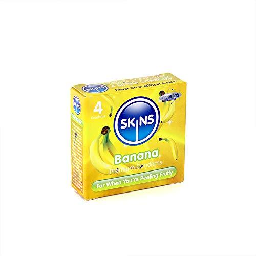 Skins - Preservativos salud sexual sabor banana, paquete