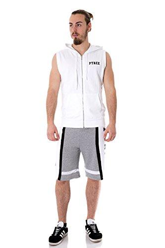 PYREX - Felpa uomo con cappuccio regular fit 33303 Bianco