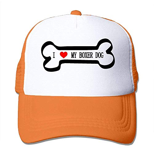 Voxpkrs Unisex I Love My Boxer Dog Two Tone Trucker Hat Mesh Back Cap - The Great Outdoors Comfortable27766