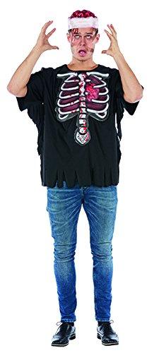 Haloween Männer Kostüm - Horrorshirt 3D Herren Kostüm Halloween Skelett T-Shirt