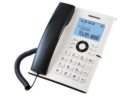 Daewoo DW0067 – Teléfono de sobremesa (manos libres, 3 memorias), color blanco