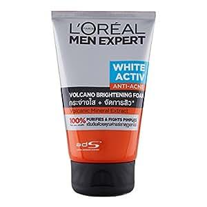 LOreal Men Expert White Active Total Skin Renewer Volcano Red Foam Face Wash For Men 100 ml