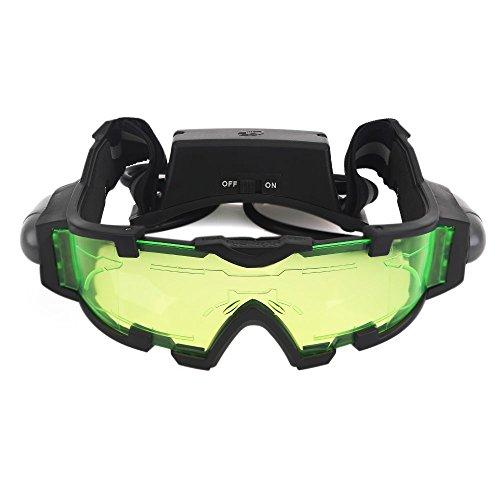 ZOGIN Gafas de Visión Nocturna con Bandas Elásticas Ajustables Gafas Protectoras de Ojos con Luces Extraíbles