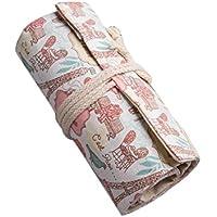 WDILO - Bolsa de papelería de lona para lápices de colores, bolsa de viaje, portátil, estuche para artistas, estudiantes, suministros (72 agujeros) 95*21cm 72 Slot