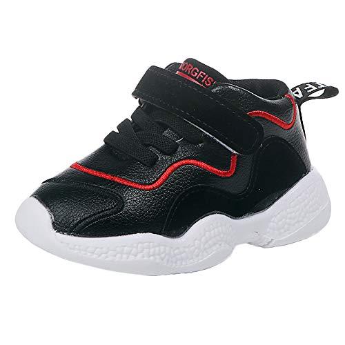 SuperSU Winter Kinder Sneaker Jungen Leicht Fitness Outdoor Klettverschluss Traillaufschuhe Hallenschuhe Baby Kleinkind Schuhe Sport Laufschuhe Brief Mesh Schuhe Turnschuhe