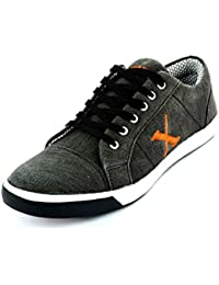 Red Rose Men's Black Casual Shoes