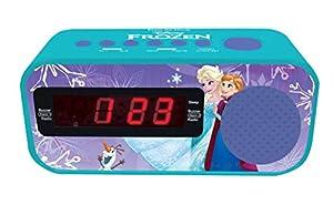 Lexibook Disney Frozen, el Reino de Hielo-Radio Despertador con Reloj Digital, Pantalla LCD, repetición Alarma, alimentación AC RL145FZ, Color Azul (1)