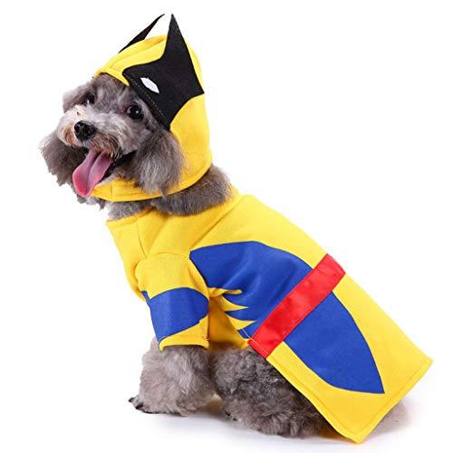 NYJ Weihnachten Hundebekleidung, Geschenk Katze Hund Cartoon Dress Up Kostüm Woolen Jacke Overall Welpen Kleidung (größe : S)