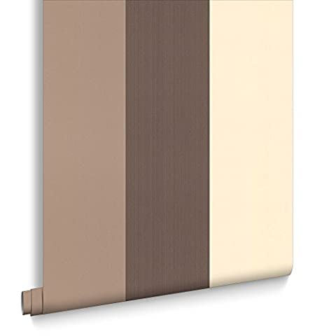 Figaro Brown Cream Wallpaper