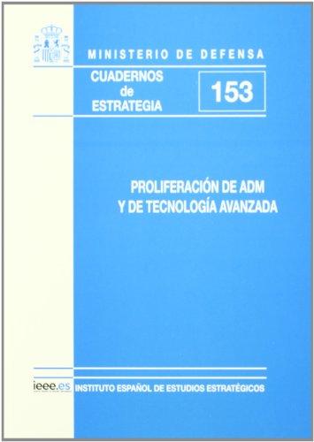Proliferación de ADM y de tecnología avanzada (Cuadernos de estrategia)