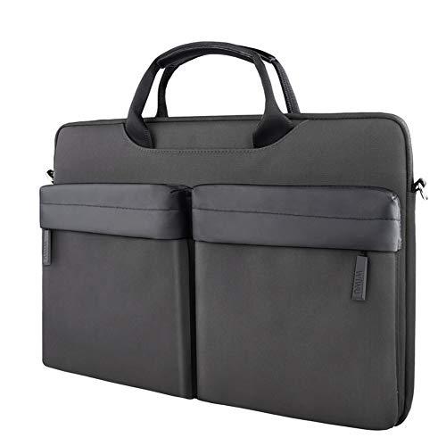 15,6 \Filz Laptop für Womens Sleeve mit Griff Handtasche tragbare Notebook-Computer Tasche Aktentasche Tasche für 15 15,6 Zoll Asus/Acer/Dell/Hp-black-15.4inch -