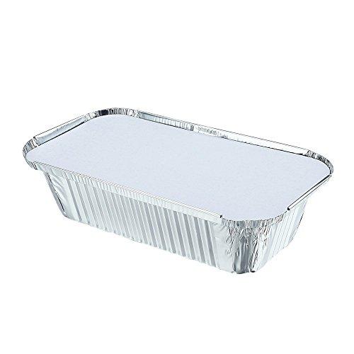 Folie, 10Stück Einweg-Lebensmittelbehälter, Kunststoff, mit Deckel, 1,5 Liter
