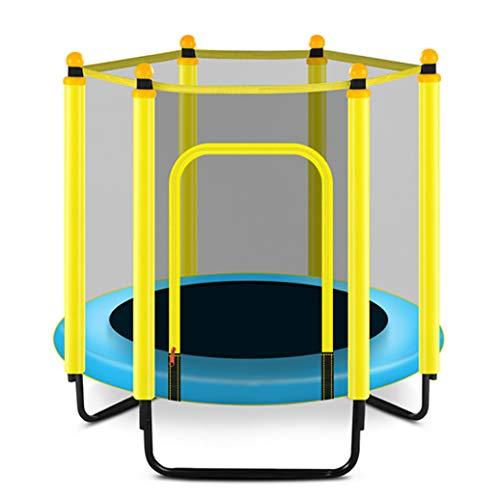 YGUOZ Indoor Outdoor Kinder Trampolin, Startseite Garten Trampolin mit Sicherheitsnetz Sprungmatte Hochfeste Federn, Trampolin Set Faltbar,Blue_48 in