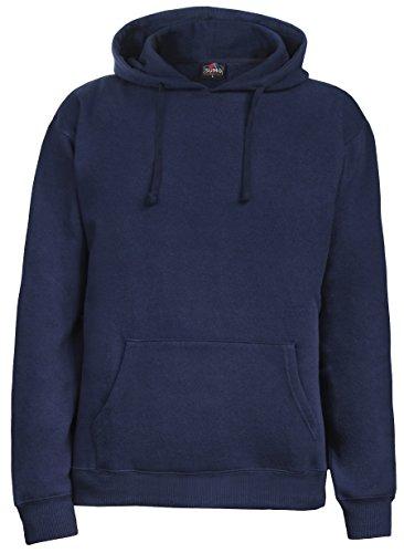 SUMG Kapuzenpullover Hoodie Kapuzen-Sweatshirt 'BASIC Hooded Pullover' (XL, Navy Blau) (Hoody Navy Sweatshirt Blauer Pullover)