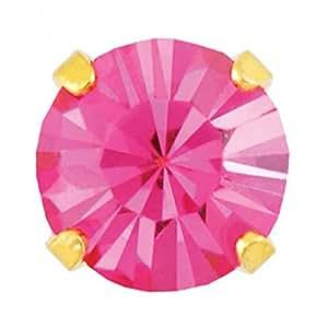 Pritties accessories studex sensitive or boucles d'oreilles aigue - 5 mm-griffe inlay forme octobre-rose