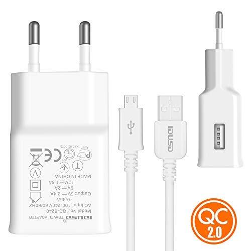 IDUSD Cargador Rapida QC2.0(Quick Charge) Micro-USB(V8) para moviles o Tablets...