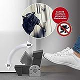 easymaxx 07957 Security Türblocker schwarz/Silber | Einbruchschutz Tür | Türstopper