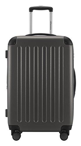 HAUPTSTADTKOFFER® · 2er Hartschalen Kofferset · SPREE 1203 · Handgepäck 49 Liter + Reisekoffer 82 Liter · in verschiedenen Farben + DESIGN KOFFERANHÄNGER (Graphit) -