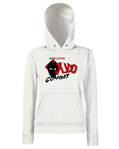 T-Shirtshock - Sweats a capuche Femme TBOXE0014 combat judo back Blanc