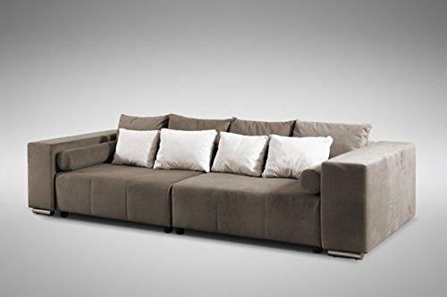 Modernes Schlafsofa Sofa Couch Big Sofa in braun Schlaffunktion – Athen