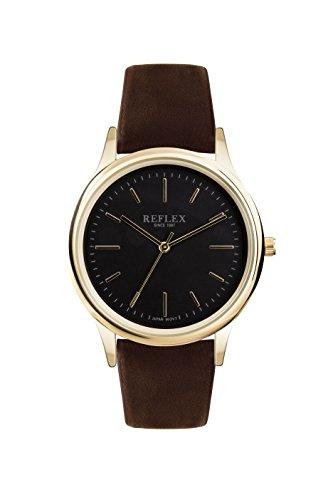 Reflex Herren Datum klassisch Quarz Uhr mit PU Armband REF0017