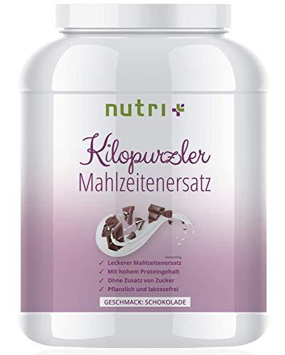 Abnehmen mit Kilopurzler DIÄTSHAKE - Schokolade - 20 Shakes / 1kg Pulver - Veganer Mahlzeitenersatz ohne Laktose und Aspartam - Pflanzliche Vitalkost - Hergestellt in Deutschland (Laktose-pulver)