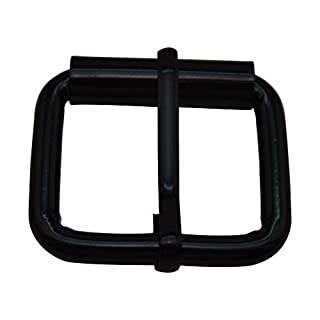Amanaote Black 1.25X0.8 Inner Size Non Welded Rectangle Buckle with sliding Pin for Strap by Amanaote