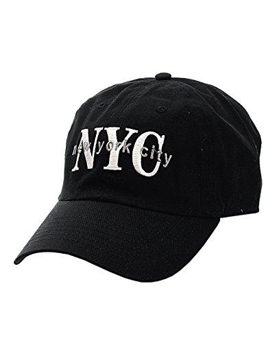 NYfashion101 Casquette Unisexe Ajustable brodée NYC New York City, visière Basse.