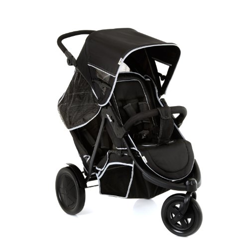 Hauck Freerider, From Birth, Tandem Double Buggy with Raincover - Black