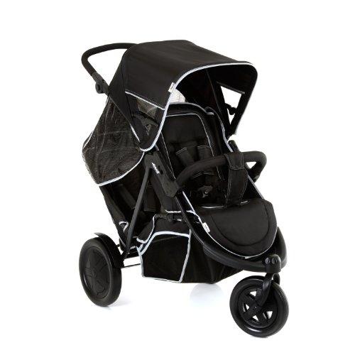 Hauck Freerider Silla de paseo gemelar para 1 o 2 niños de diferentes edades, asientos desmontables...