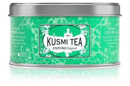 Grüner Tee-mischung (Kusmi Tea - Wellness-Tee Expure Original - Mischung mit Mate, grünem Tee und Zitronengras, aromatisiert - Zitrone - Die exklusive Mischung wird in Frankreich - Metalldose (125g), Ergibt ca. 50 Tassen)