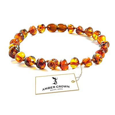 Amber Crown Baltic Amber Anklet - Bracelet / Authentic Certified Baltic Amber Beads / 13 - 19 cm