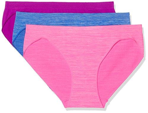 FM London Damen Taillenslip Super Soft Bikini 3er Pack Multicoloured (Multi-Pack)